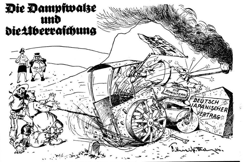 Bild: Die Dampfwalze und die Überraschung (Antikominternpakt)
