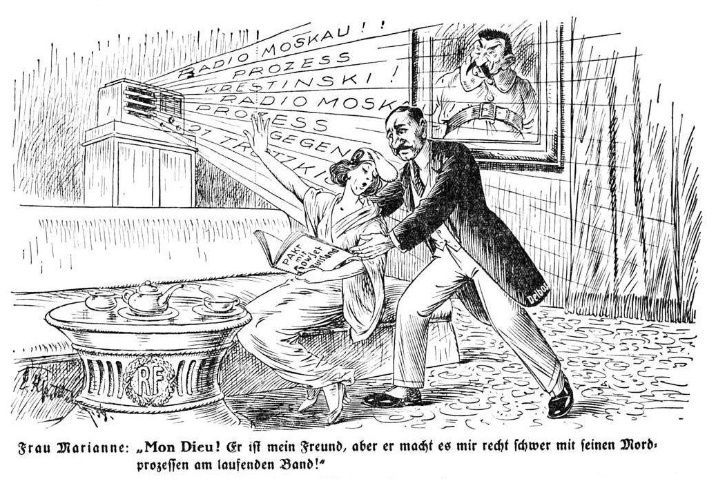 Bild: 1938 Der französische Außenminister plädiert für einen Pakt mit Russland