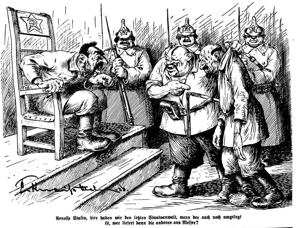 """Bild: 1938 Der """"letzte Staatsanwalt"""" wird Stalin präsentiert"""