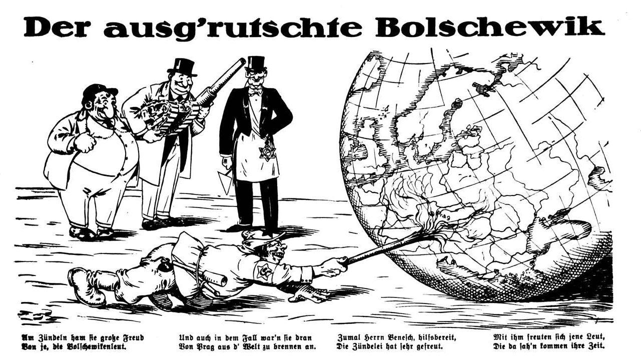 Bild: Der Bolschewismus will angeblich von Prag aus die Welt anzünden