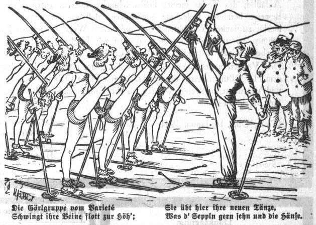 Bild: Die Görlgruppe vom Varieté schwingt ihre Beine flott zur Höh'