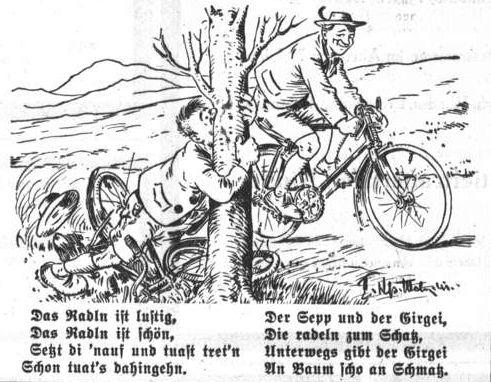 Bild: Unterwegs gibt der Girgei an Baum scho an Schmatz