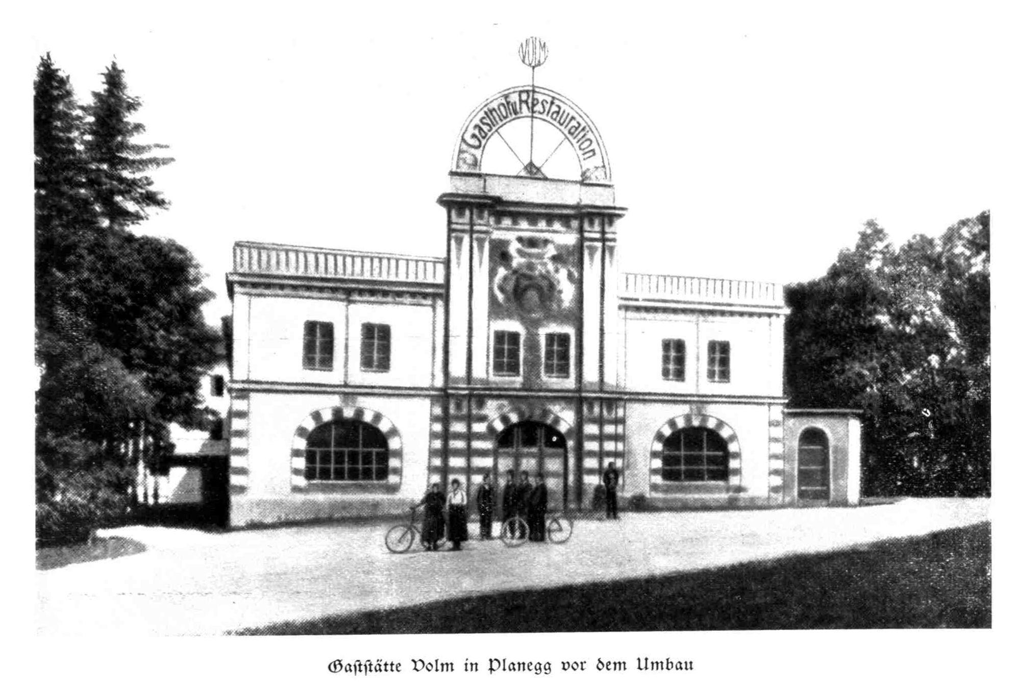 Bild: Der Gasthof Volm vor dem Umbau 1936