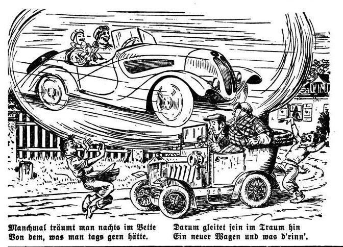 Bild: Im Traum ein neuer Wagen und was d'rinn
