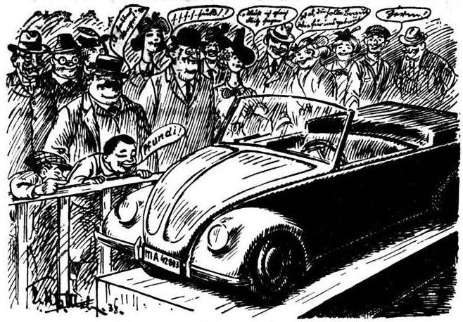 """Bild: Publikum gibt Kommentare zu dem neuen """"Volkswagen"""" ab"""