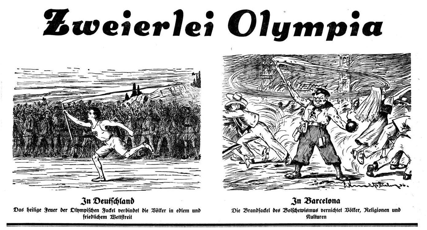 Bild: Zweierlei Olympia (In Deutschland, in Barcelona)