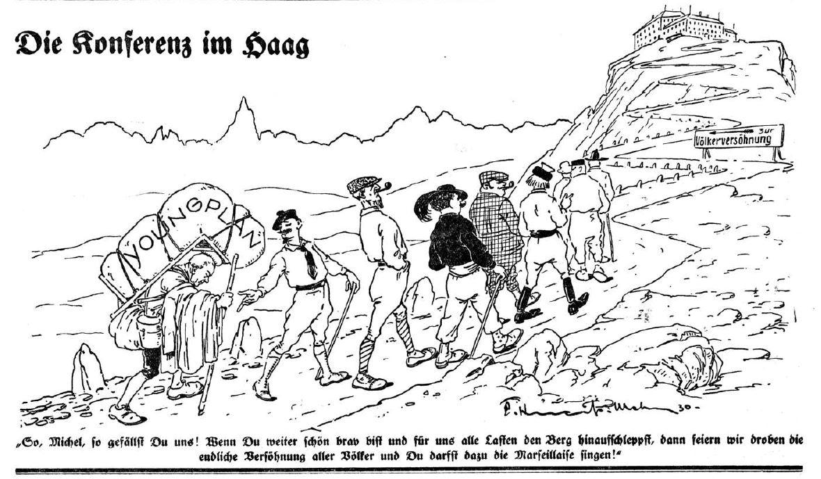 Bild: Die Konferenz im Haag (Januar 1930)