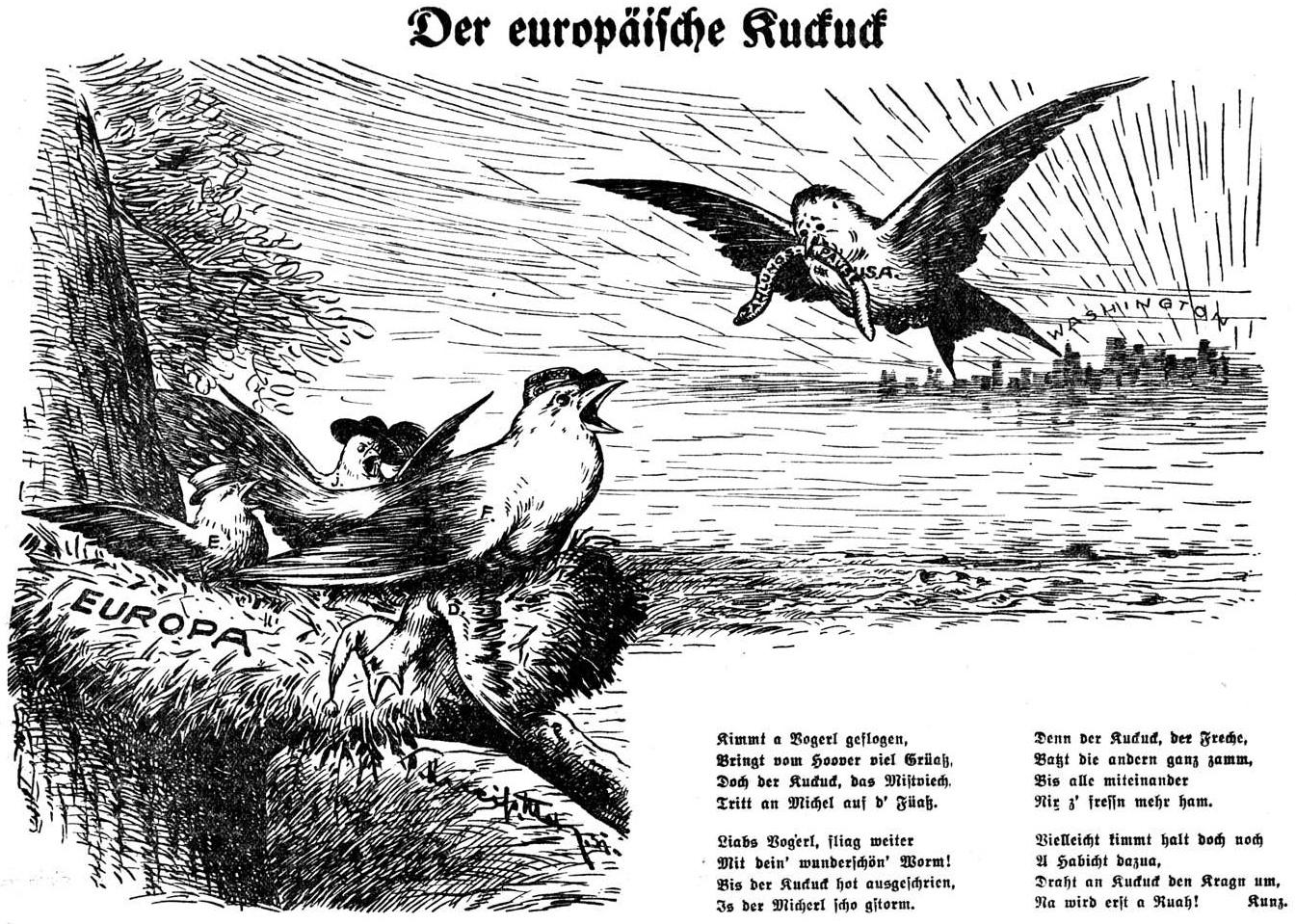 Bild: Der europäische Kuckuck (Hoover-Moratorium)
