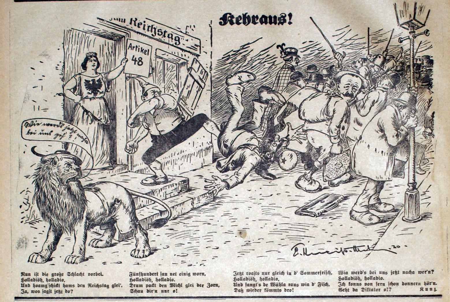 Bild: Kehraus! (Der Reichstag wird aufgelöst)