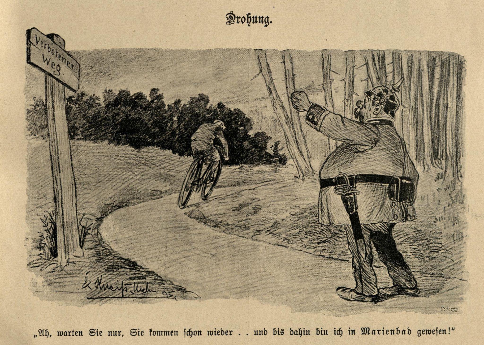 """Bild: """"Ah, warten Sie nur, sie kommen schon wieder... und bis dahin bin ich in Marienbad gewesen!"""""""