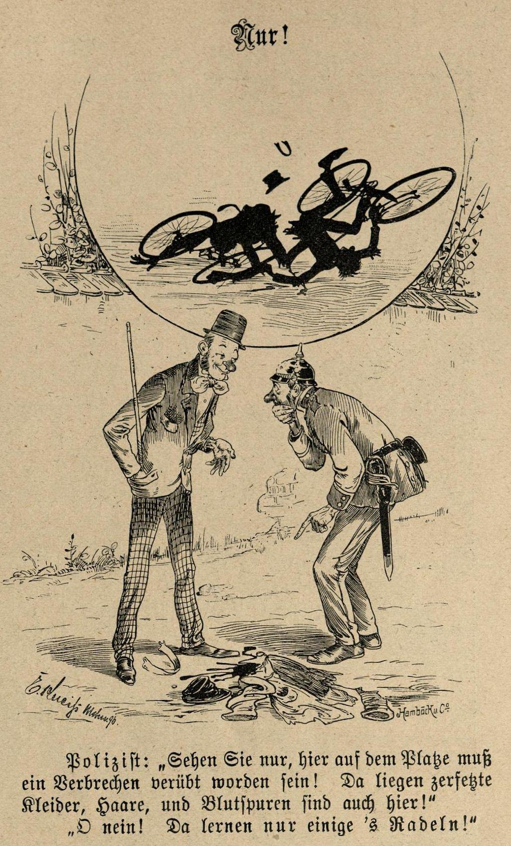 """Bild: O nein! Da lernen nur einige 's Radeln!"""""""