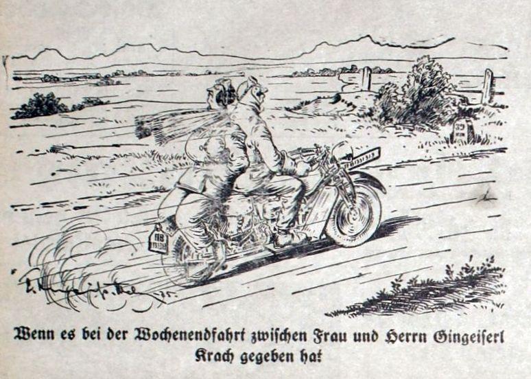 Bild: Wochenendfahrt auf dem Motorrad mit Krach zwischen Mann und Frau