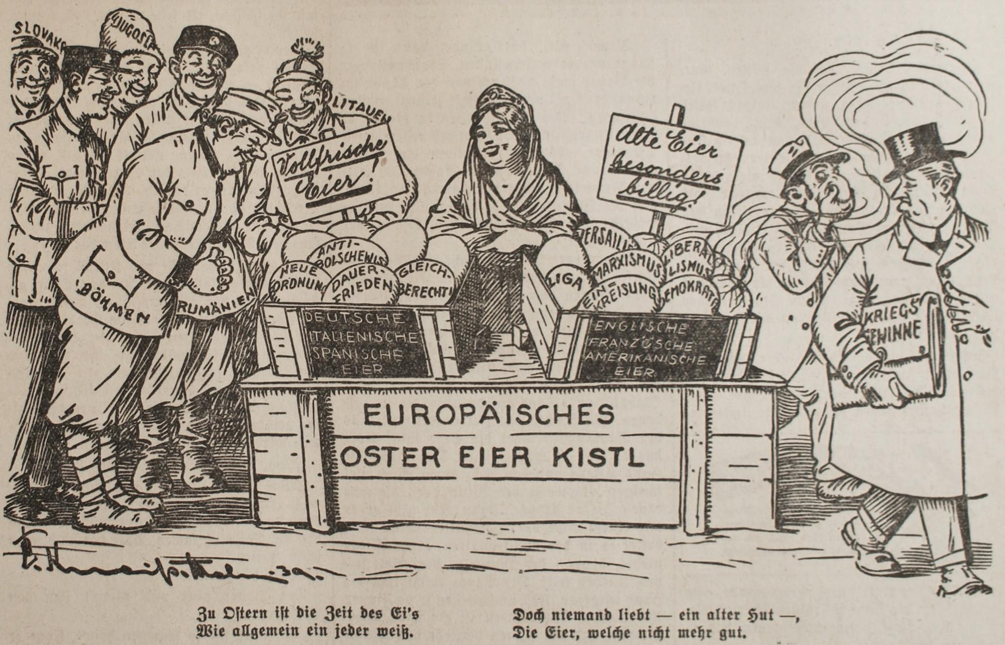 Bild: Europäisches Oster-Eier-Kistl