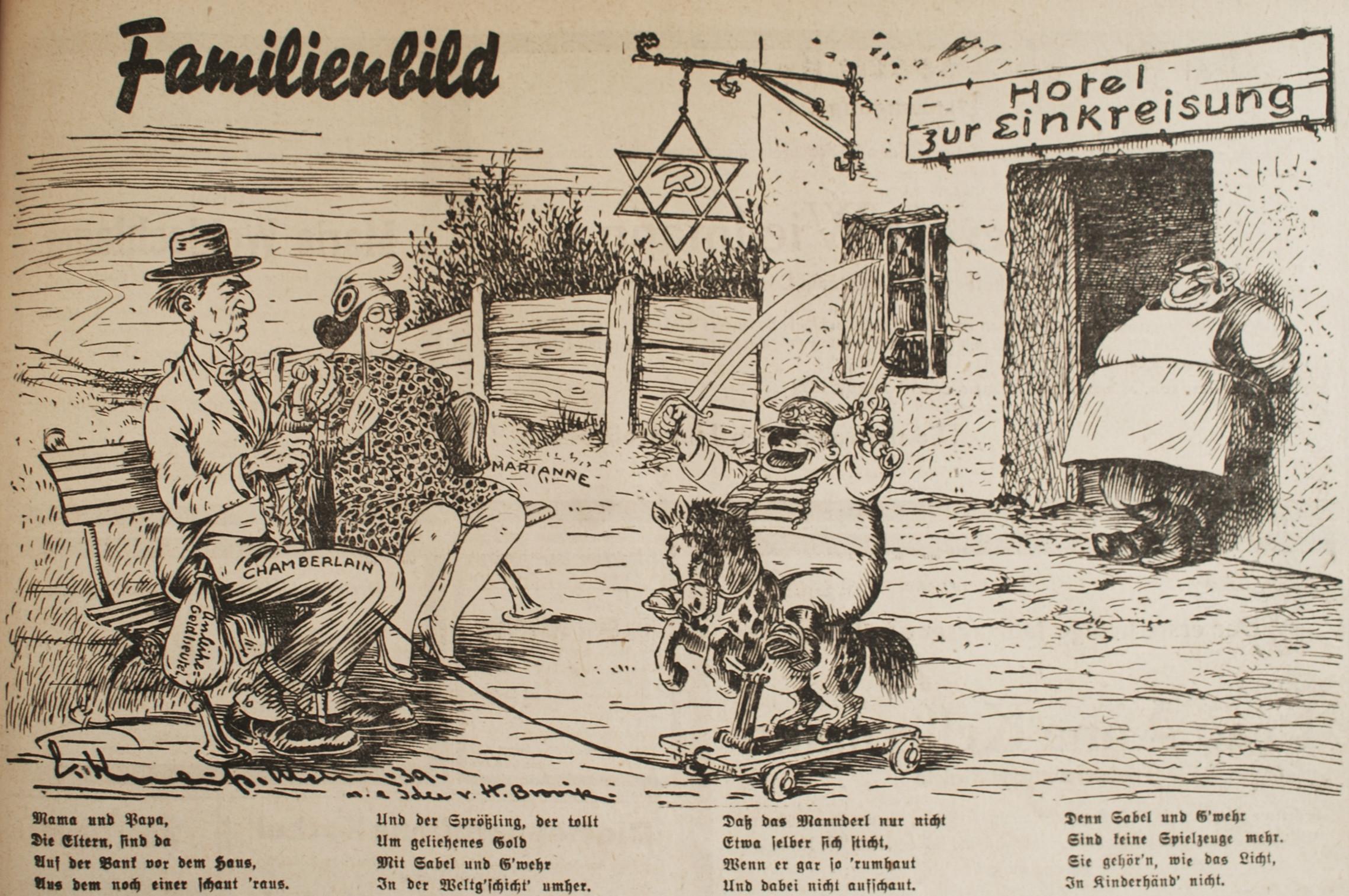 """Bild: Familienbild vor dem """"Hotel zur Einkreisung"""""""