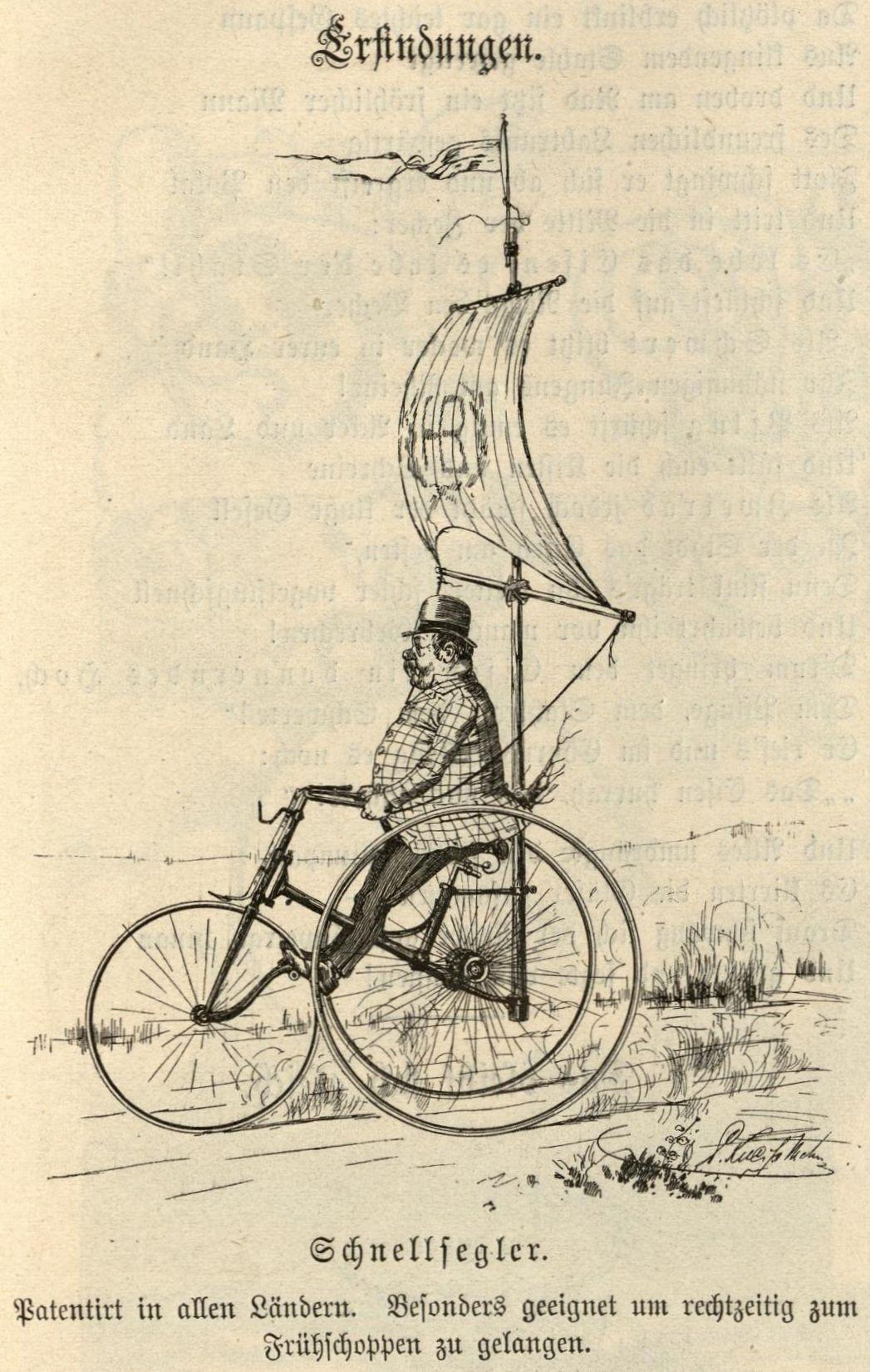 Bild: Ein Hoch-Dreirad als Schnellsegler