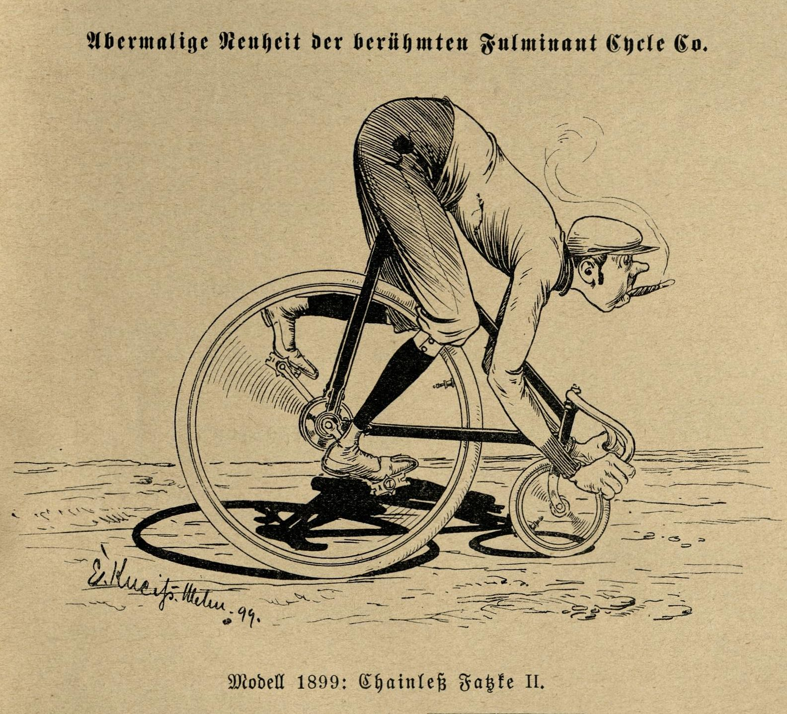 Bild: Fulminant Cycle Modell 1899: Chainless Fatzke II.