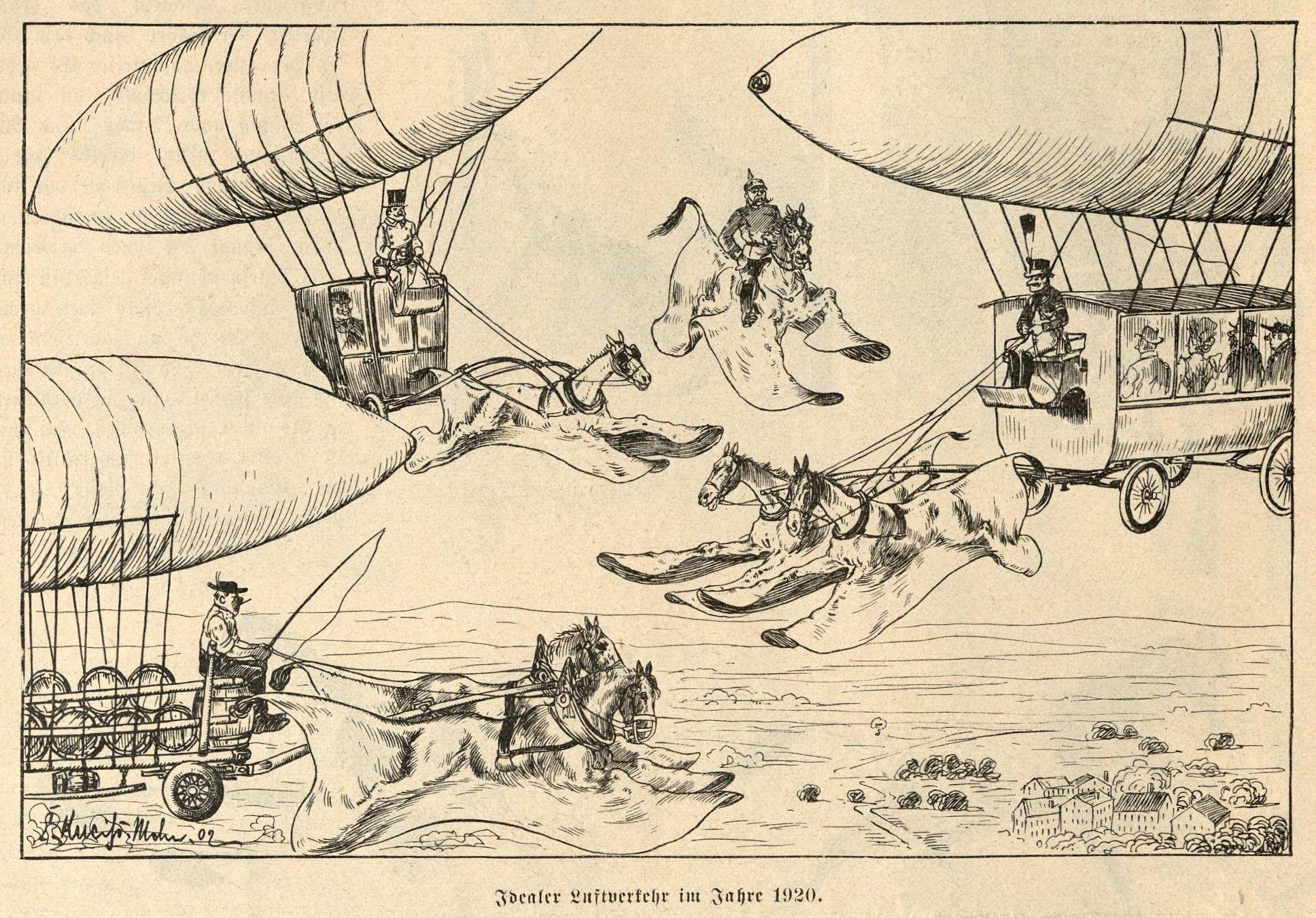 Bild: Idealer Luftverkehr im Jahre 1920