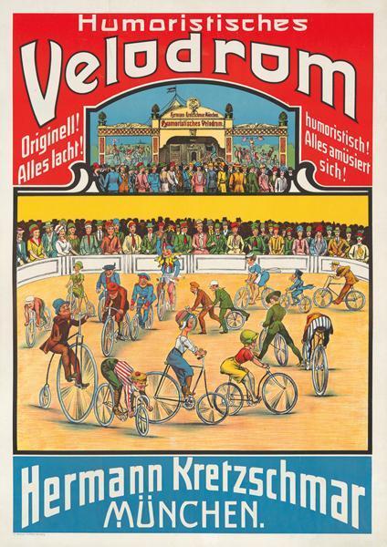 Bild: Plakat für Humoristisches Velodrom, Hermann Kretzschmar München
