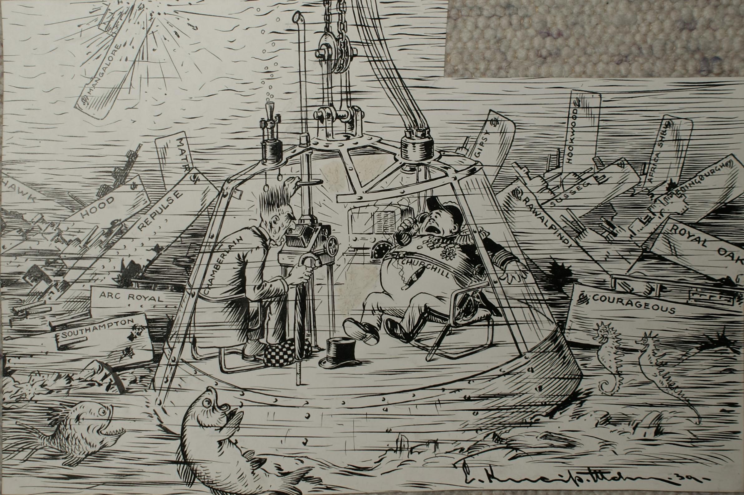 Bild: Churchill verlegt sein Quartier auf den Meeresgrund