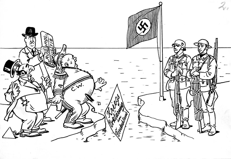 Bild: Auch Italien erklärte gegen Ende des Frankreichfeldzuges noch Frankreich den Krieg