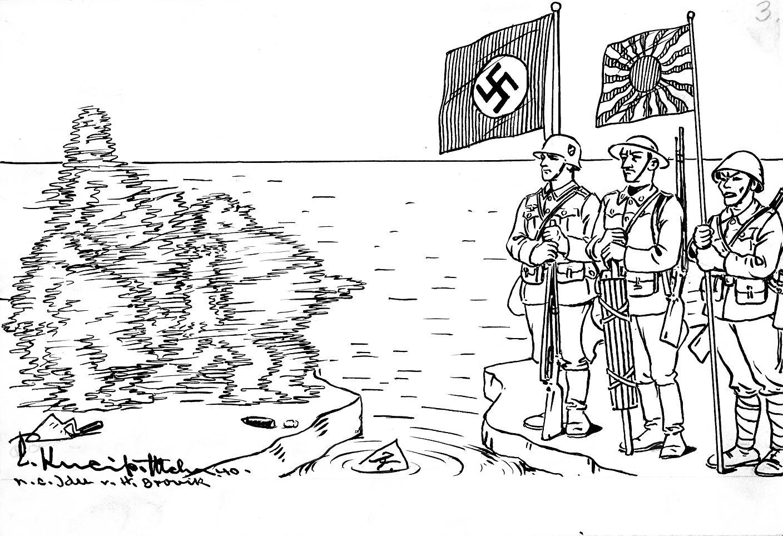 Bild: Der Kominternpakt von 1938 wird 1940 zum Dreimächtepakt Deutschland, Italien, Japan.