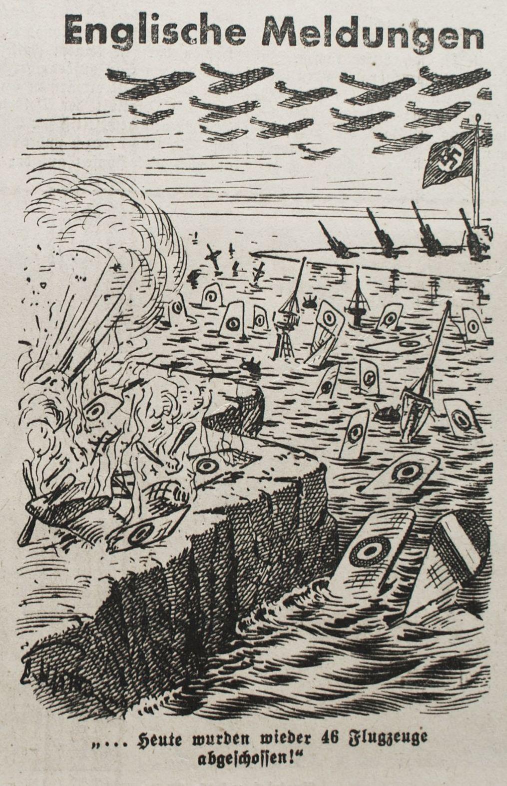 """Bild: """" Heute wurden wieder 46 Flugzeuge abgeschossen!"""""""