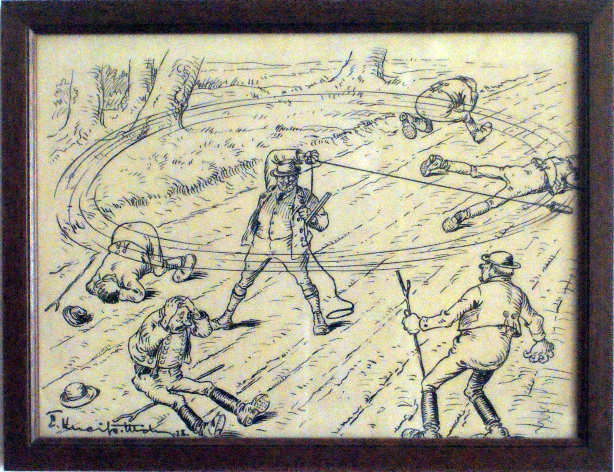 """Bild: Jetzt geht's rund. Alle, die der Jagd im Wege stehen, werden """"abrasiert"""""""