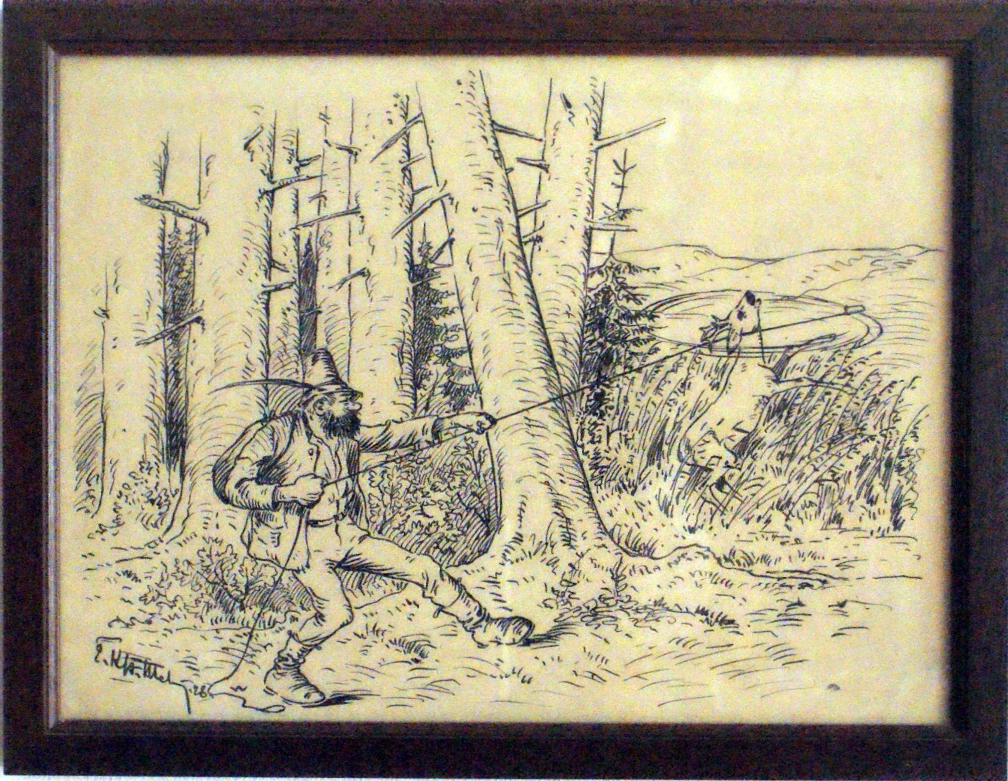 Bild: Das Fingerling-Lasso dient dem Hirschenfang