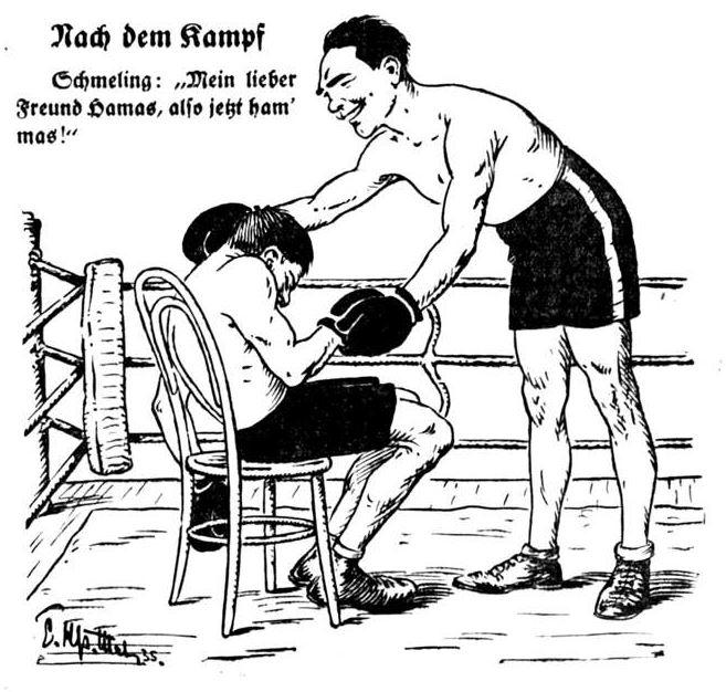 Bild: Max Schmeling schlug am 10. März 1935 Steve Hamas durch technischen K.o.
