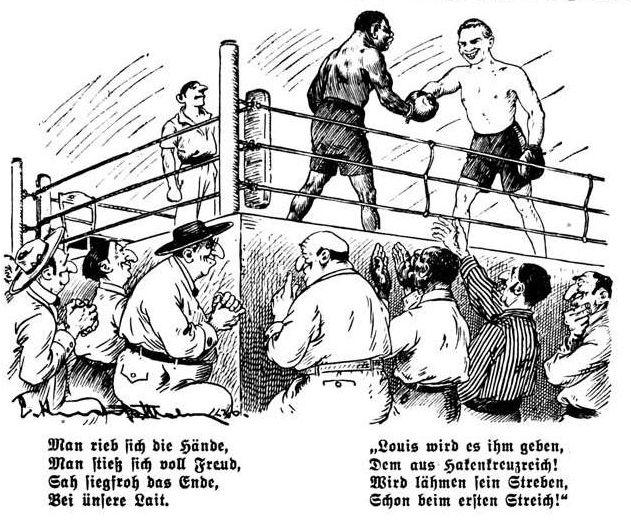 Bild: Der Kampf Joe Louis gegen Max Schmeling am 19. Juni 1936