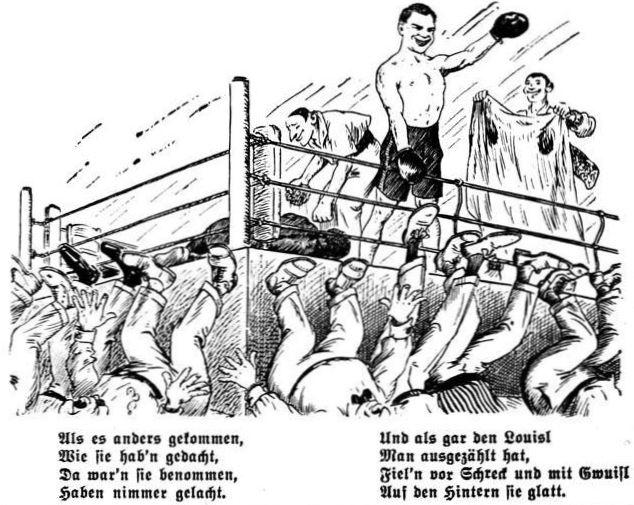 Bild: Der Kampf Joe Louis gegen Max Schmeling am 19. Juni 1936 II