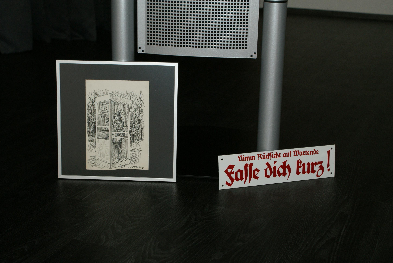 Ein Geschenk zur Eröffnung der Ausstellung