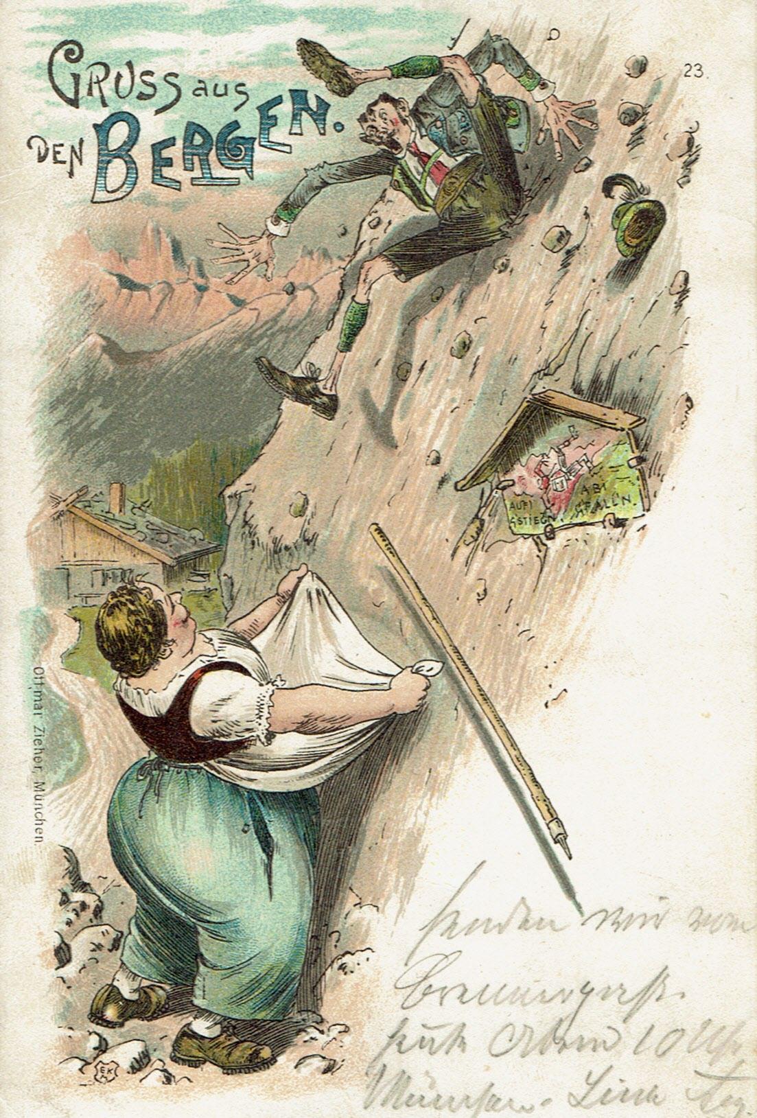 Gruß aus den Bergen (Aufistieg'n, Abigfall'n)