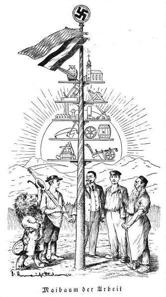 Bild: Maibaum der Arbeit