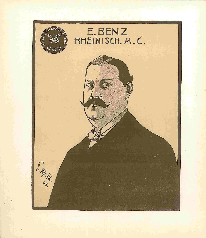 Eugen Benz, Präsident des Rheinischen Automobil-Clubs
