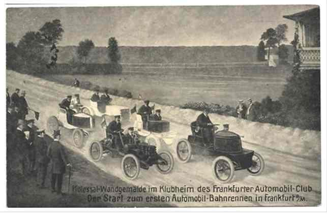 Das erste Automobil-Bahnrennen am 29. Juli 1900 in Frankfurt