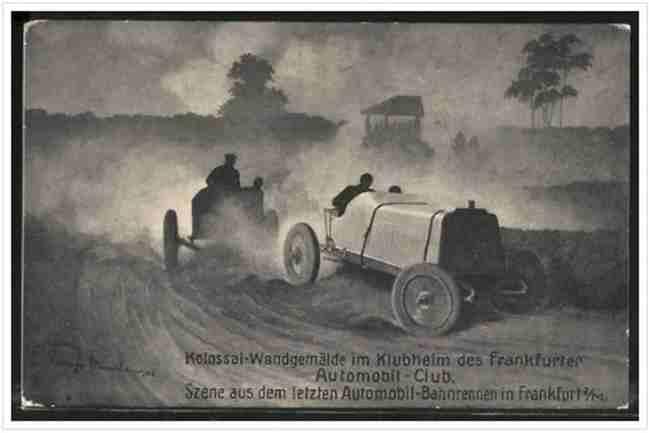 Szene aus dem letzten Automobil-Bahnrennen in Frankfurt a/M