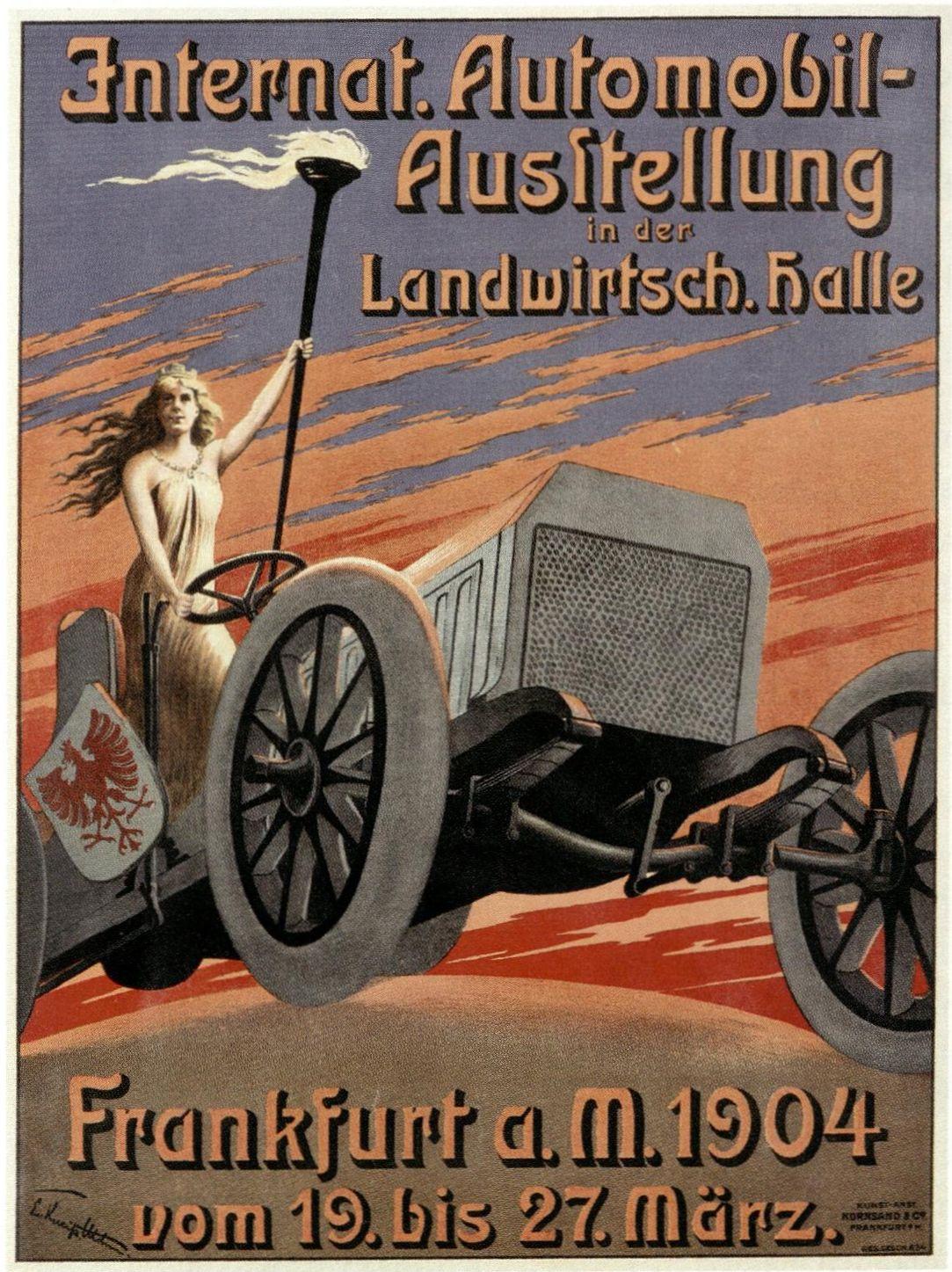 Automobilausstellung im März 1904 in Frankfurt
