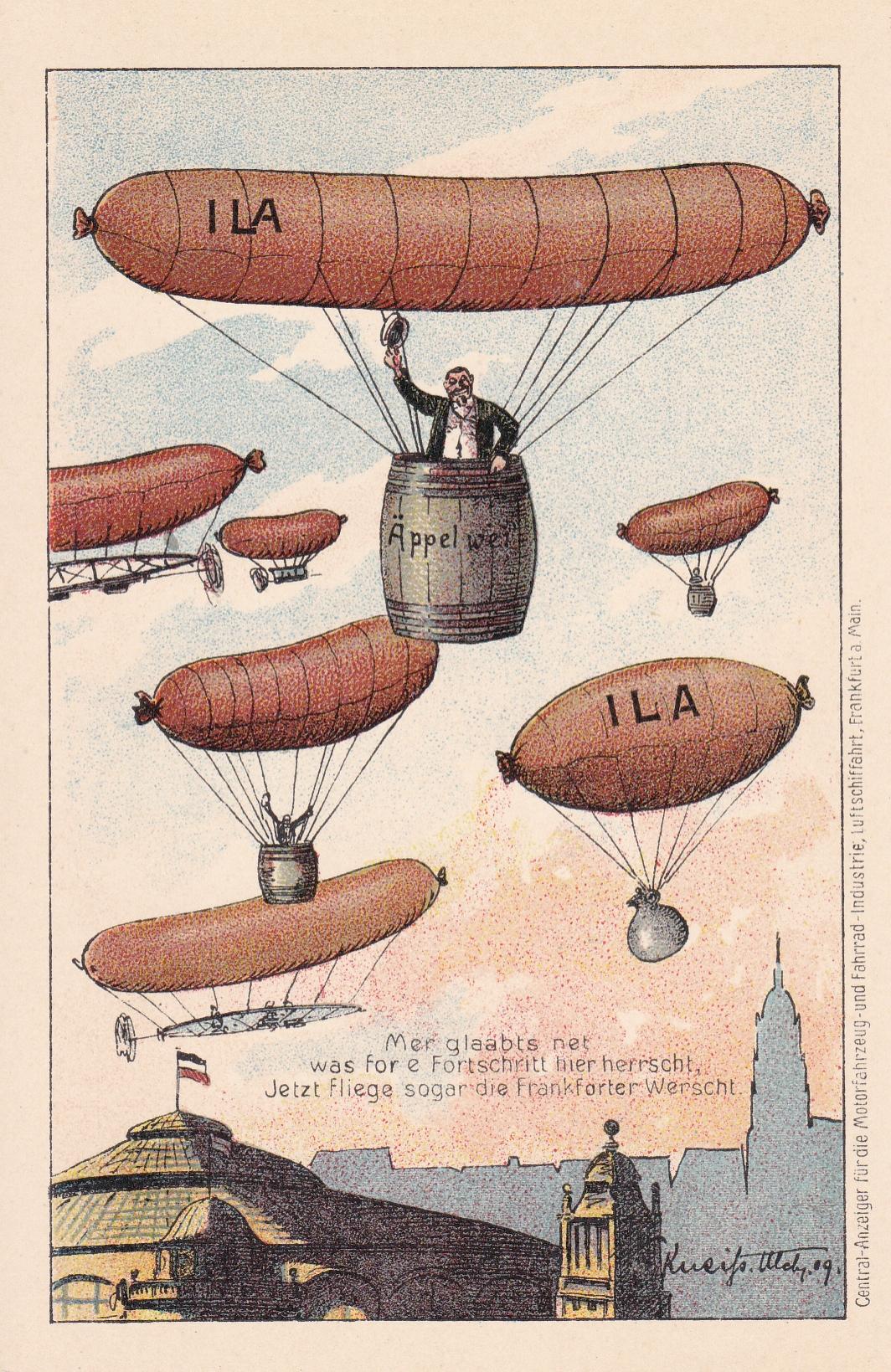 Luftfahrt-Ausstellung 1909 in Frankfurt