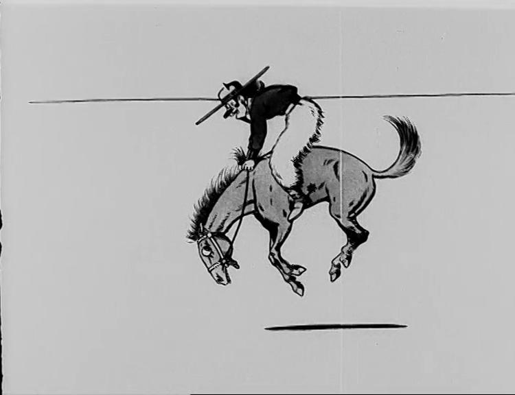 Texas Jack auf dem bockenden Pferd
