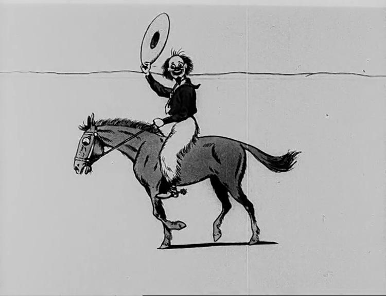 Texas Jack reitet mit dem gezähmten Pferd von dannen