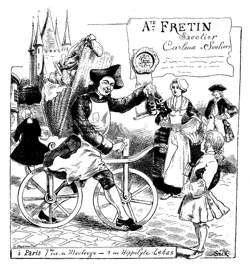 Französischer Nachbau der Draisine mit verbesserter Lenkung des Vorderrads