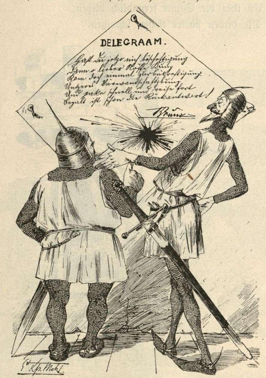 Kunz und Kuno vor dem Telegramm