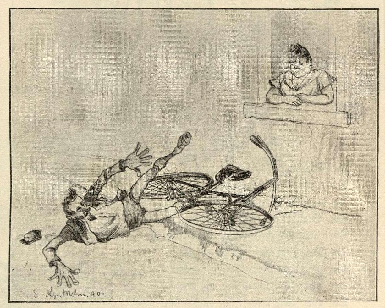 Herr Purzler stürzt vor dem Fenster der Angebetenen