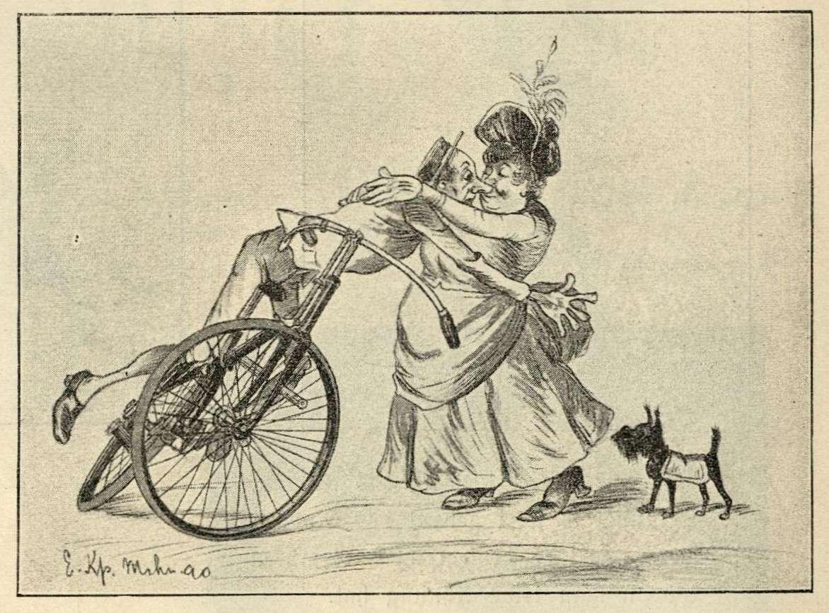 Purzler stürzt einer ältlichen Frau in die Arme