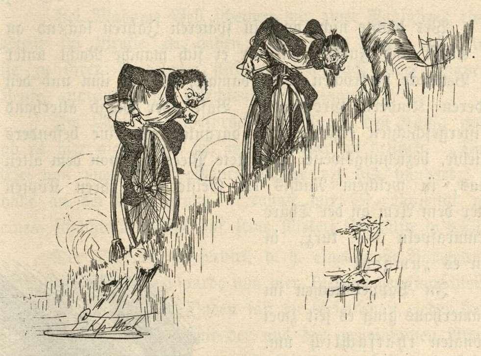 Kunz und Kuno radeln verbissen bergwärts