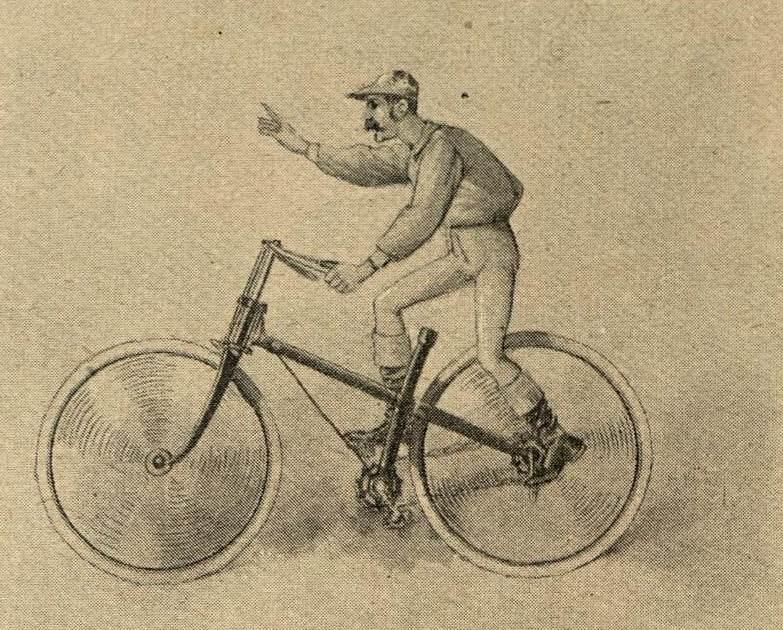Jockey springt auf Rad ohne Sattel