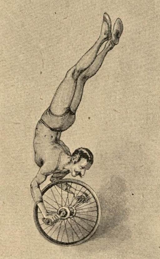 Parterre-Akrobat mit Einrad